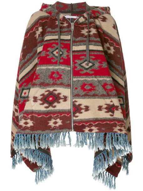 Diesel poncho women cotton wool top