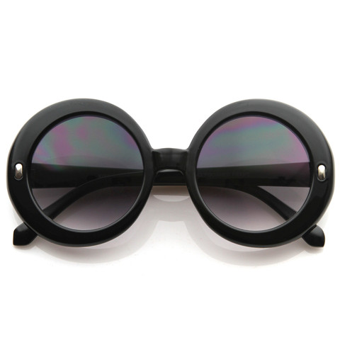 Gorgeous smooth round designer oversize sunglasses 8584