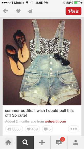 overalls shorts cute denim pattern summer aztec summer outfits croptops