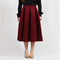 Bordeaux box pleat skirt