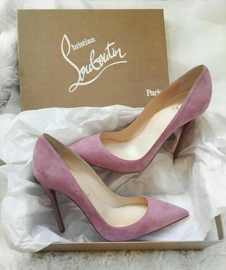 shoes high heels lilac violet matte christian louboutin heels louboutin light purple