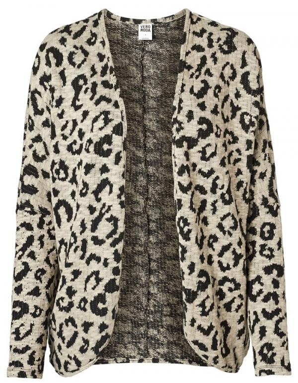 Cárdigan kida leopard print de Vero Moda