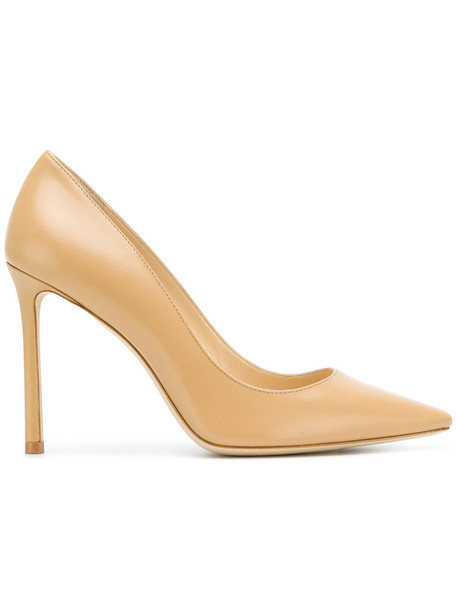 women 100 pumps leather nude shoes