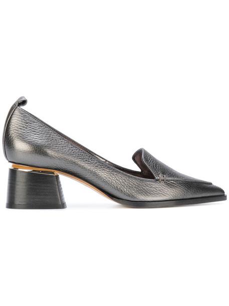 Nicholas Kirkwood heel women pumps leather suede green shoes