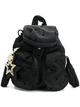 mini women backpack mini backpack cotton black pattern bag
