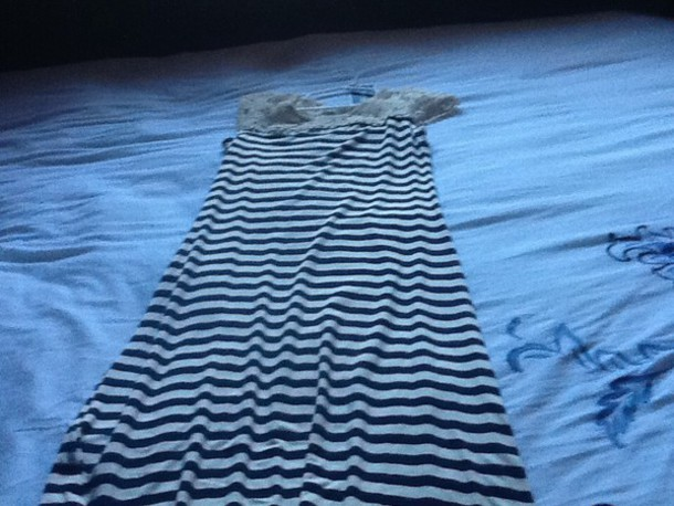 dress blue and white dress you can get it at marshals $16.99