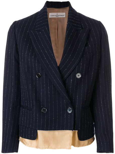 blazer women mohair blue wool jacket