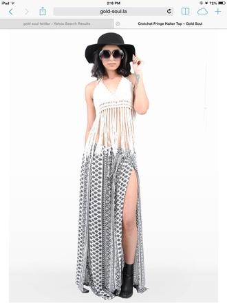 blouse crochet top crochet fringe fringed top top white top