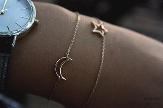 jewels braclets iwantit moon stars gold dainty bracelets