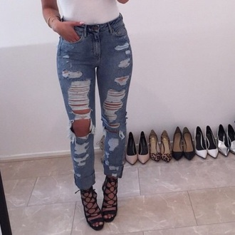 jeans ripped jeans ripped fashion inspo shoes