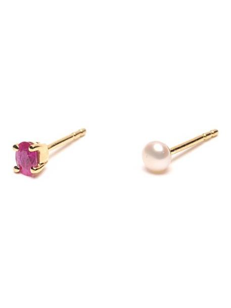 Wouters & Hendrix Gold pearl earrings stud earrings metallic jewels