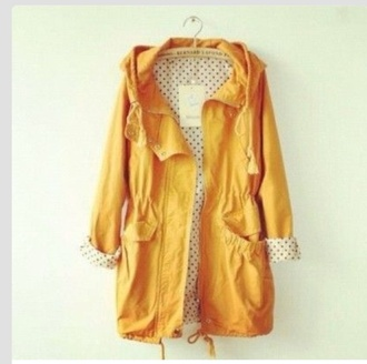 coat yellow yellow top yellow trench coat polka dots black and white polka dot spring outfits spring jacket