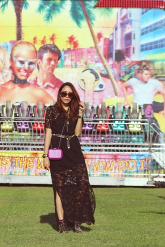 preppy fashionist blogger dress belt shoes bag sunglasses jewels