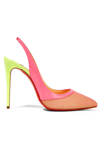 neon 100 pumps leather pink coral shoes