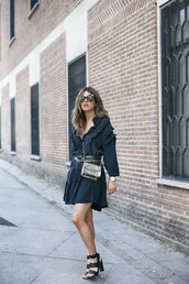 dress,navy,tumblr,navy dress,mini dress,long sleeves,long sleeve dress,sandals,sandal heels,high heel sandals,black sandals,bag,furla,shoes