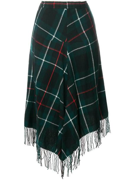 Y's skirt tassel women wool green