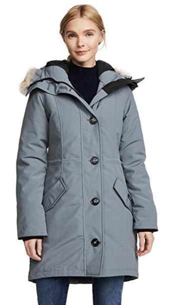 parka grey coat