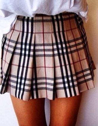 skirt girls burberry women burberry miniskirt