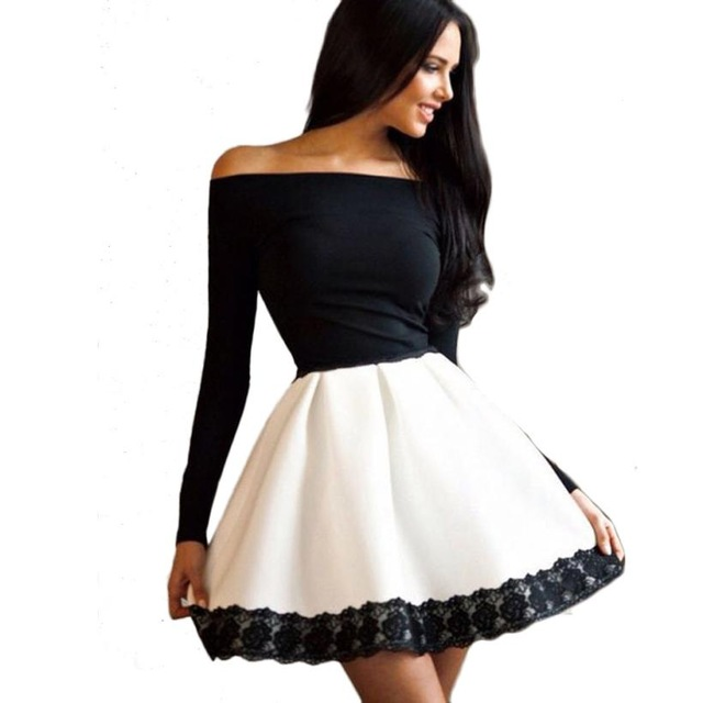 Vestidos de noche manga larga cortos