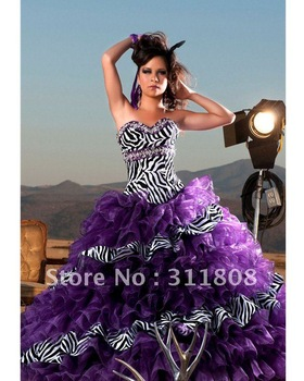 Aliexpress.com : buy free shipping 2012 most popular zebra crystal quinceanera dress gown from reliable dress sleeveless suppliers on shanghai sally wedding dress factory