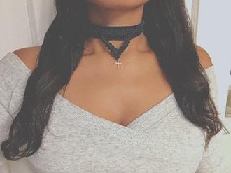 jewels cross choker necklace cross necklace lace black lace choker lace chokers lace choker neecklace lace choker necklace cross jewelry velvet