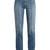High-rise rolled-seam straight-leg jeans