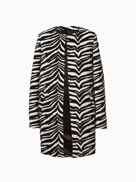 Zebra-Stripe Jacket In Longline | Choies