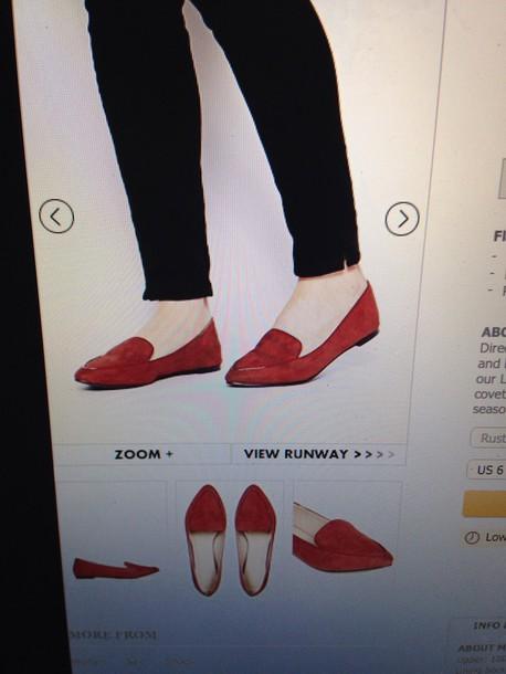 shoes red flats ballet flats