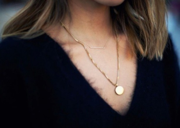 jewels minimalist jewelry jewelry necklace gold gold necklace layered bar necklace