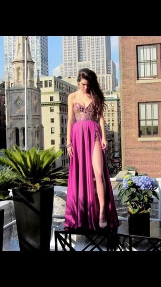 dress prom dress bustier dress sexy pink
