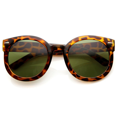 Womens Designer Round Oversize Retro Fashion Sunglasses 8623                           | zeroUV