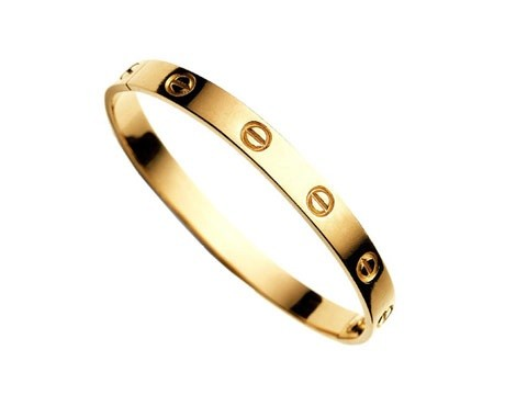 Gold love bracelet by mir