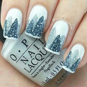 nail polish tree snowflake holiday season