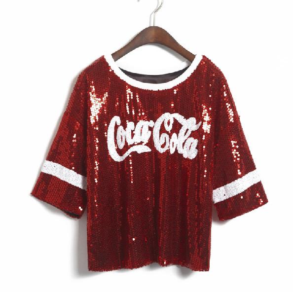 Sequined coke shirt