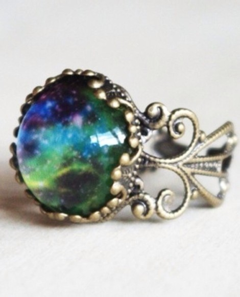 galaxy universe jewels ring