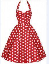 dress,vintage dress,fashion,pokadot,a line dress