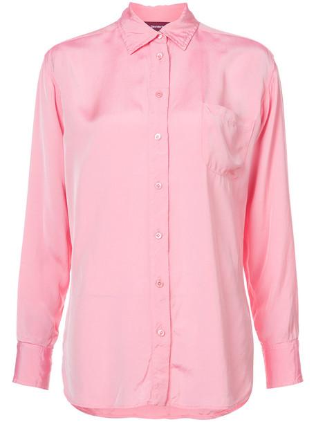 shirt women purple pink top