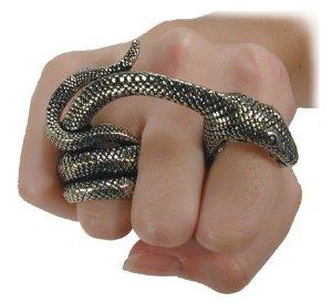 Amazon.com: adder bite alchemy gothic snake ring: poison ring: jewelry