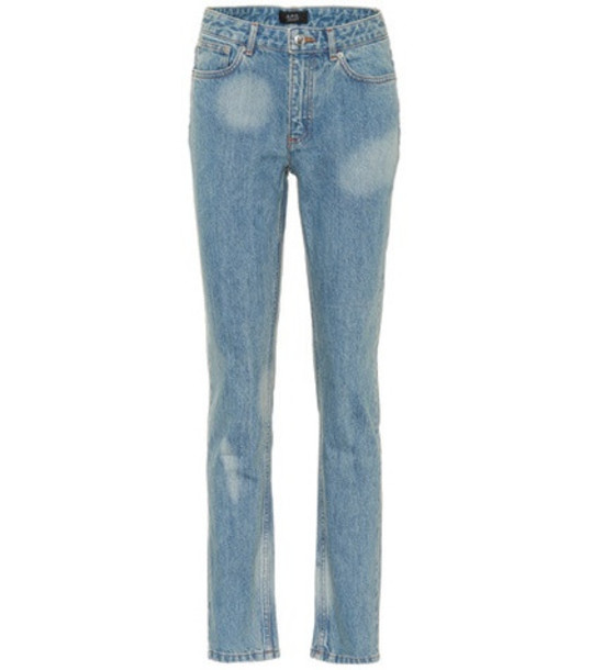 A.P.C. Droit high-waisted jeans in blue