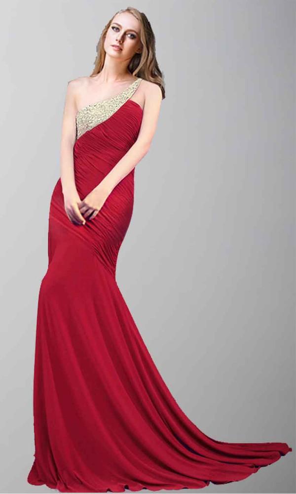 red dress one shoulder dresses mermaid prom dress long formal dresses long prom dress evening dress