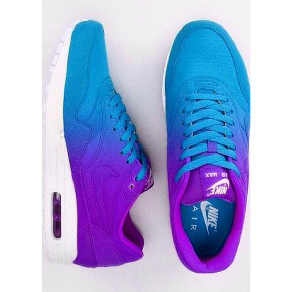 ombre nike air max 1 blue purple