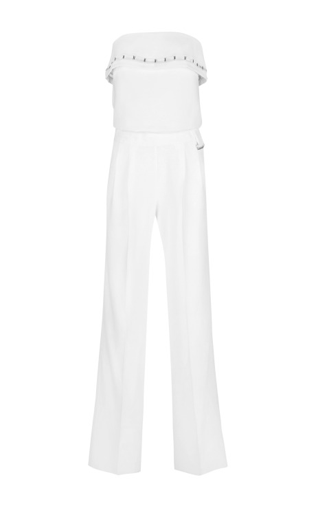 Classic cady off white jumpsuit by mugler