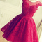 Aliexpress.com : buy hot beading appliques a line short prom dresses backless lace dress vestidos de knee length short dress 2016 party dress from reliable dress patterns prom dresses suppliers on dream country