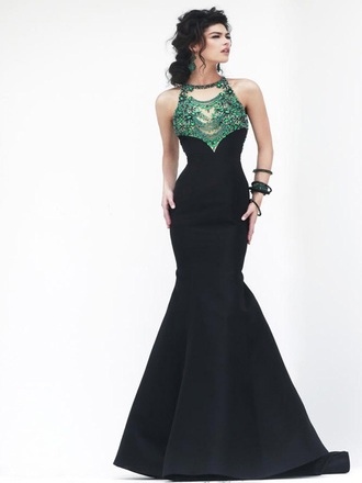 dress prom prom dress mermaid prom dress mermaid/trumpet black dress emerald green