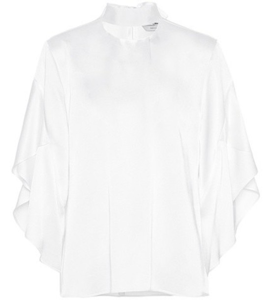 Fendi top satin white