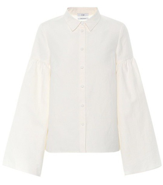CO shirt cotton white top