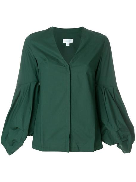Jovonna blouse women cotton green top
