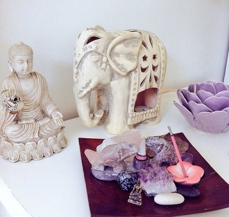 home accessory elephant candle stone candleholder