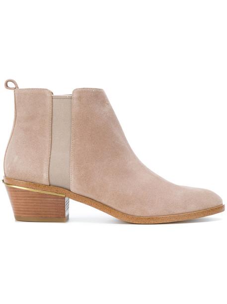 heel women boots heel boots leather nude suede shoes