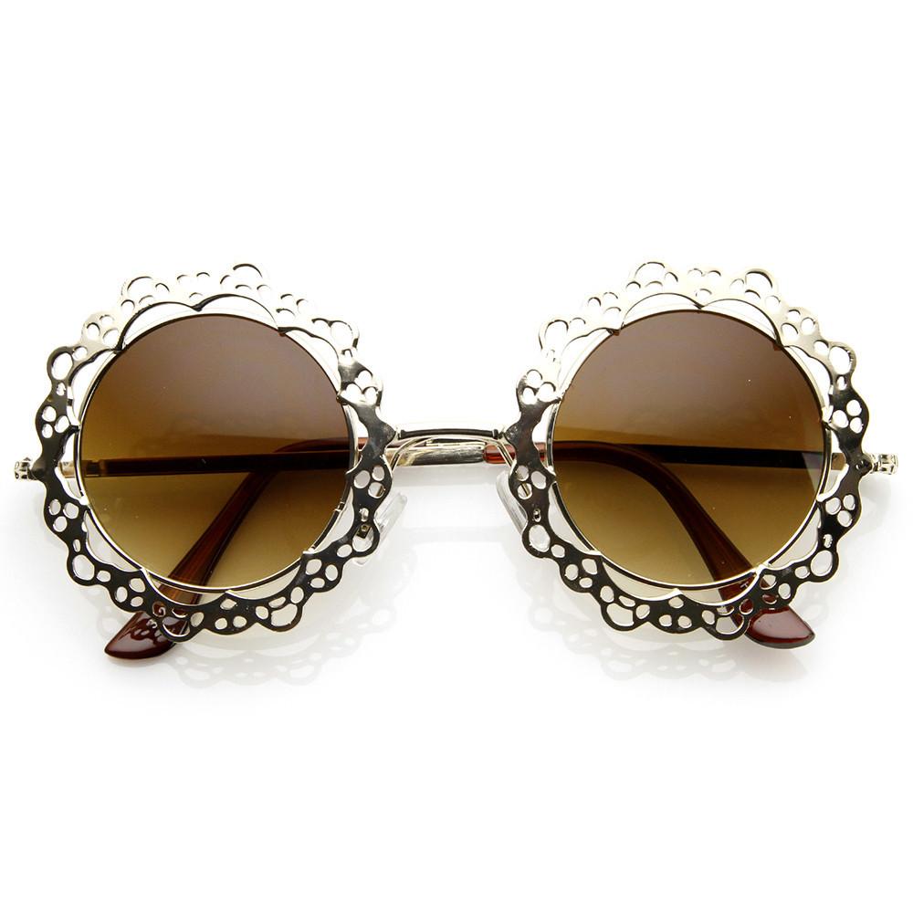 Baroque round sunglasses / back order – holypink